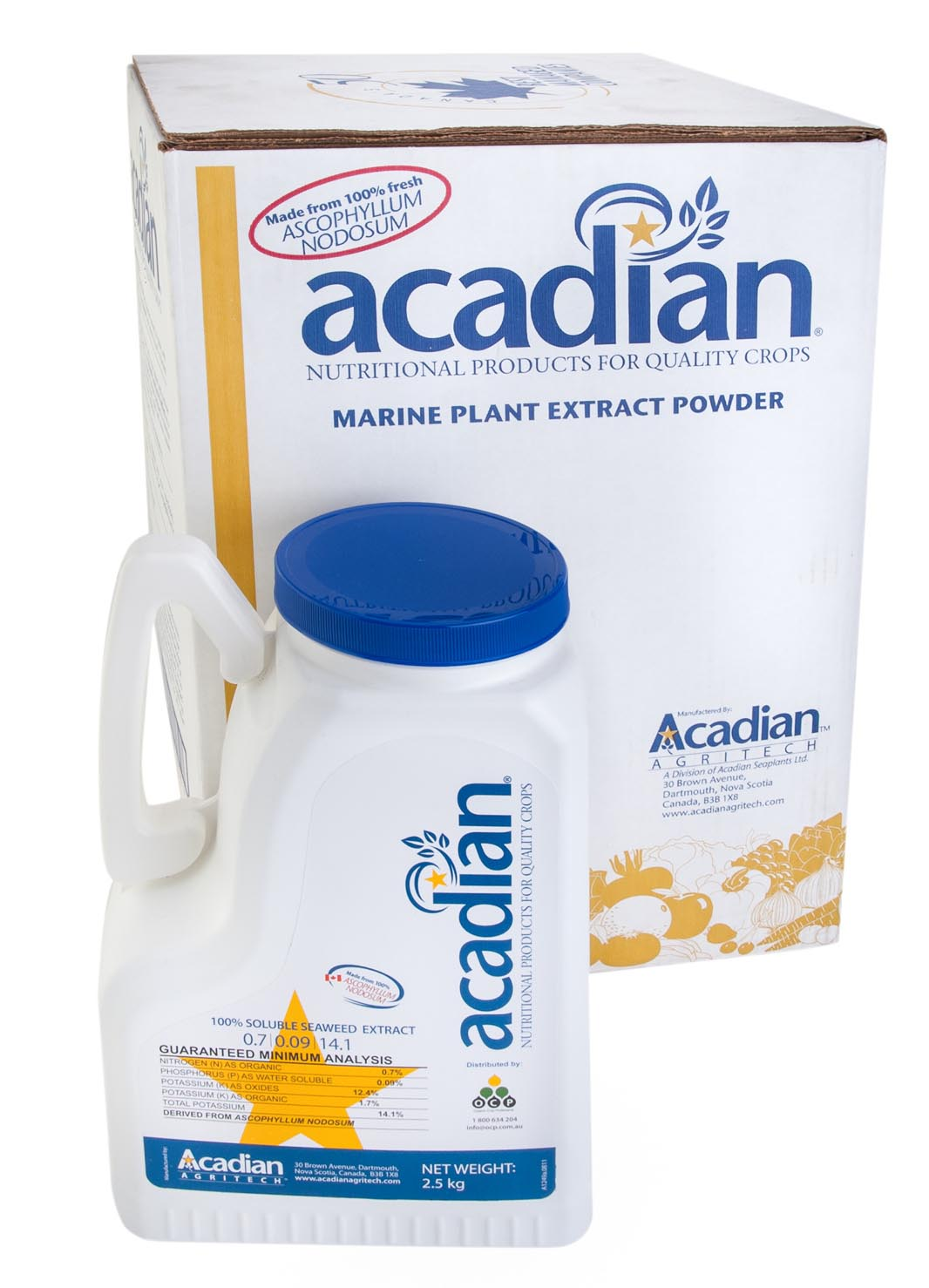 Acadian 100% soluble extract powder